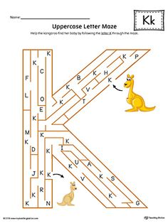 The Uppercase Letter K Maze in Color is an excellent worksheet for your preschooler or kindergartener to practice identifying the letters of the alphabet. Pre K Curriculum, Preschool Curriculum, Preschool Learning, Letter K Words, Letter Maze, School Worksheets, Alphabet Worksheets, Letter K Crafts, Maze Worksheet