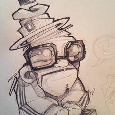No hay descripción de la foto disponible. Graffiti Writing, Graffiti Alphabet, Graffiti Art, Cartoon Sketches, Drawing Sketches, Art Drawings, Drawing Guide, Character Concept, Character Design