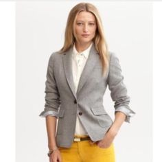 Banana Republic Grey Blazer I bought this recently from another Posher, but unfortunately it's a size too big! It's even more beautiful in person. Such great quality. Banana Republic Jackets & Coats Blazers