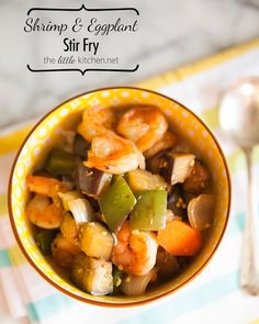 Shrimp and Eggplant Stir Fry from The Little Kitchen