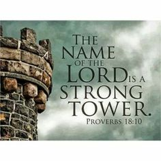 Strong Tower. Amen...Mildred  Williams Thank You God !!! Hallelujah