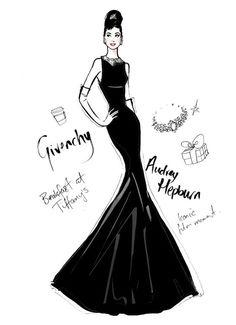 Одри Хепберн в платье Givenchy