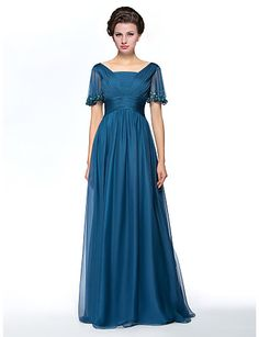 Mother of the Bride Dress Floor-length Chiffon Sheath/Column Dress – USD $ 149.99
