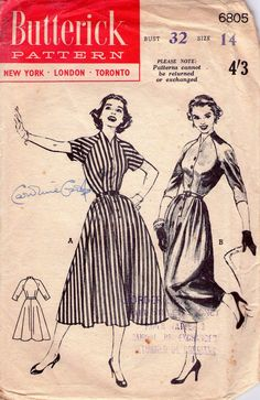 Vintage 1950s Sewing pattern Full Skirted by allthepreciousthings, $24.00