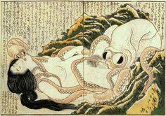 Katsushika Hokusai - The Dream of the Fisherman's Wife