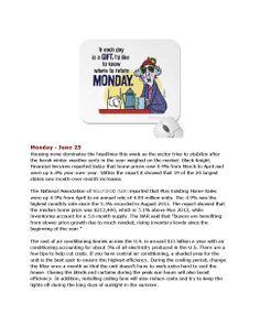 6-23-14 Monday's Market News www.equitysourcemortgage.com