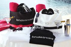 Michaels.com Wedding Department: Bride and Bridesmaid Totes Give your bridal party standout style. Personalize bridesmaid totes with fashionable ribbons and bows, fill with fun wedding day goodies and share with your bridal party.