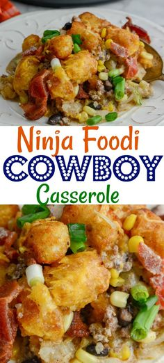 casserole cowboy ninja foodi oven the in or Cowboy Casserole in the Ninja Foodi or ovenYou can find Ninja foodi recipes and more on our website Tater Tots, Ninja Recipes, Beef Recipes, Cooking Recipes, Healthy Recipes, Juicer Recipes, Blender Recipes, Easy Cooking, Delicious Recipes