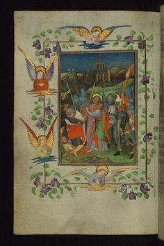 Illuminated Manuscript, Book of Hours, Betrayal, Walters Manuscript W.168, fol. 52v by Walters Art Museum Illuminated Manuscripts, via Flickr