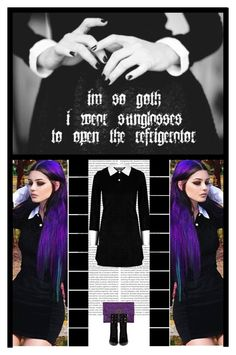 """so goth....."" by irresistible-livingdeadgirl ❤ liked on Polyvore featuring Anya Hindmarch, Sergio Rossi, gothic, alternative, SergioRossi, AnyaHindmarch and polyvoreeditorial"