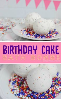 Birthday Cake Bath Bombs on www.girllovesglam.com
