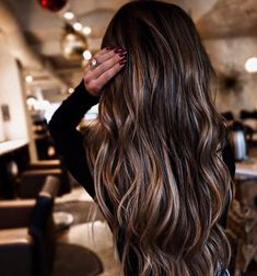 Fall Hair Color For Brunettes, Hair Color For Women, Hair Color Ideas For Dark Hair, Hair Colors, Balayage Long Hair, Hair Color Balayage, Balayage Hairstyle, Bronde Balayage, Mocha Hair
