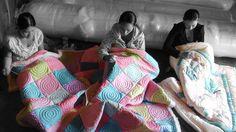 #quilt #handmade #Vietnam #teamwork #socialbusiness #development Social Business, Teamwork, Merino Wool Blanket, Baby Car Seats, Vietnam, Quilts, Children, Handmade, Comforters