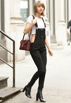 5/28 #テイラー・スウィフト #オーバーオールスキニーデニム #クロップTシャツ |海外セレブ最新画像・私服ファッション・着用ブランドまとめてチェック DailyCelebrityDiary*