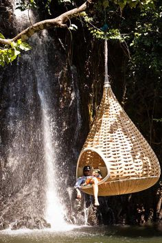 Tropical paradise relaxation. I want this in my backyard! (The Waterfall too lol!!)