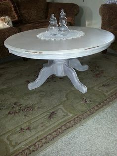 The boring table now finished in calk paint By Jodi Rebedew