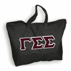 $20 Gamma Sigma Sigma Lettered Tote Bag