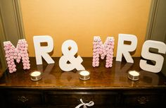 SALE: Mr & Mrs Wedding Letters with Flowers by CraftsbyVerity Wedding Unique, Unique Weddings, Perfect Wedding, Wedding Gifts, Wedding Letters, Flower Letters, Mr And Mrs Wedding, Mr Mrs, Wedding Stationery