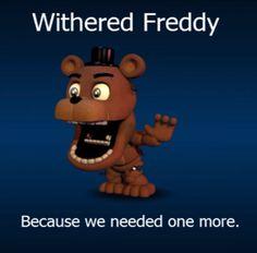 FNaF World Withered Freddy!
