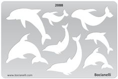 Plastic Stencil Template for Graphical Design Drawing Drafting Metal Clay Jewellery Jewelry Making - Dolphins, Sea Creatures, Fish
