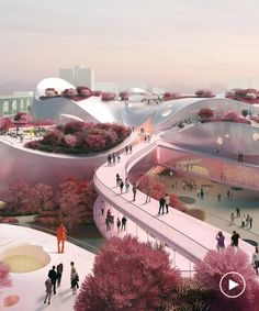 MVRDV presents pink-tinged proposal for taoyuan museum of art in taiwan Museum Architecture, Space Architecture, Futuristic Architecture, Museum Of Modern Art, Art Museum, Landscape Photos, Landscape Design, Chicago Museums, Chicago Restaurants