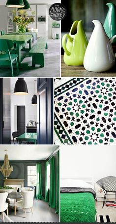 Emerald, Charcoal & White Home Inspiration | The Moon & The Honey