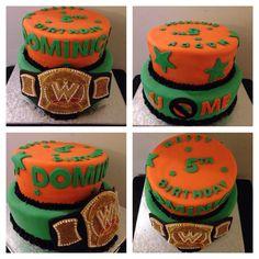 Today's cake work! John Cena inspired birthday cake. #cake #buttercream #fondant #frosting #wwe #johncena #championship #belt #ucantcme #tiers #cakeporn #instacake #stillgrowing