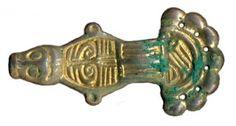 Fibula z Bardąga - Srebrna pozłacana fibula płytkowa VI-VII w. n.e.