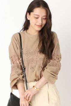 IENA(イエナ) コットンクレープレースブラウス◆ | スタイルクルーズ Cut Work, Real Style, Japan Fashion, Plus Size Blouses, Blouses For Women, Korean Fashion, Boho Chic, Spring Fashion, Style Inspiration
