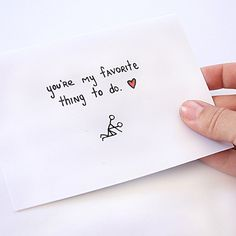 You're My Favorite Thing To Do Card - hilarious Valentine's Day card for your special someone.