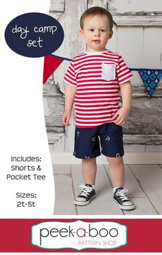 FREE toddler shorts & t-shirt pattern - Peek-a-Boo Pattern Shop: The Blog
