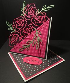DaisyFlower: Rose Wonder Twisted Easel Card