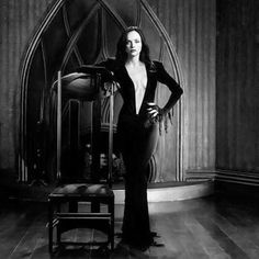 "hellyeahhorrormovies: "" Christina Ricci dressed as Morticia Addams, she is most famously known for playing Wednesday Addams in the two films. (The Addams Family, and Addams Family Values,. The Addams Family, Adams Family, Christina Ricci, Dark Romance, Wednesday Addams, Rocker, Rock Chic, Dark Beauty, Look At You"