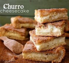 """Churro cheesecake - nothing special, basically a """"meh"""" cinnamon sugar Danish. Every bite a letdown. Not worth it."""