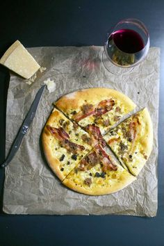 Pizza med bacon og trøffel //Pizza with bacon and truffle