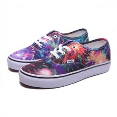 Vans Shoes Multi Purple Fireworks Authentic Shoes Womens Classic Canvas