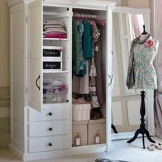 white dressing room closets