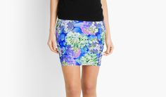 Billowing Blush in Blues by PolkaDotStudio Pencil Skirt on #RedBubble, #new #blue #hydrangea #flower #petals #digital #photography #floral #bouquet #art on pencil #skirts for #trendy #fashion #apparel for #leisure #fun #her by Vikki Salmela.