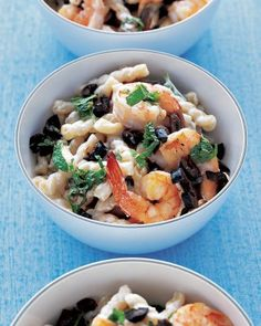 Greek-Style Pasta with Shrimp