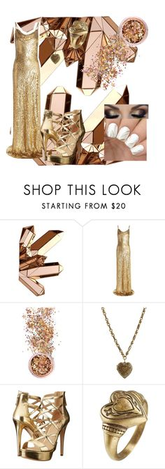 """""""gold gown for fall party"""" by shaya-bvb-4-life ❤ liked on Polyvore featuring Michael Kors, In Your Dreams, Etro and GUESS"""