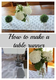 Easy to sew table runner. Includes a tutorial with full instructions and pictures of how I made my custom sized table runner.  Easy and inexpensive but high impact DIY!