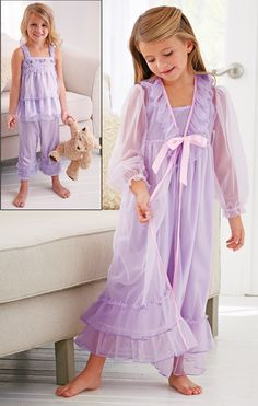 From CWDkids: Frilly Bo Peep Pajamas & Ruffle Peignoir Set-This is beyond adorable!!!!!!