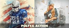 Polyex Low Poly Photo Effect Action