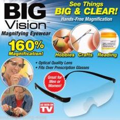 [ 20% OFF ] New Retail Box Packaging Wholesale As Seen On Tv New Big Vision Magnifying Eyewear Glasses See 160% More Better