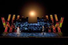 Amazing stage production for Wagner's Gotterdammerung by Metropolitan Opera