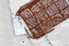 These gluten AND dairy free brownies are so easy to make and even easier to eat!