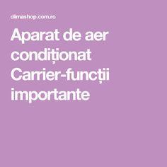 Aparat de aer condiționat Carrier-funcții importante