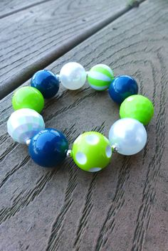 Check out this item in my Etsy shop https://www.etsy.com/listing/215363746/seahawks-inspired-blue-green-gameday