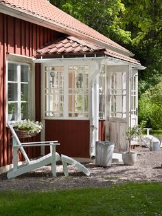 Rurally yours, . - Ccarmen Schreier - Rurally yours, . Rurally yours, . Swedish Cottage, Red Cottage, Cozy Cottage, Cottage Style, Future House, My House, Sweden House, Backyard Sheds, Scandinavian Home
