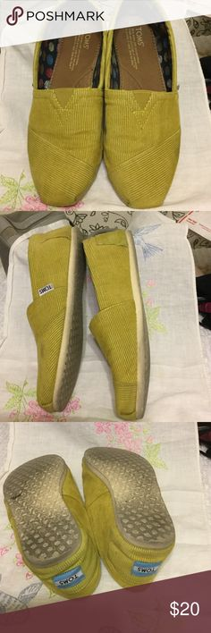 Women's cord TOMS Great shape. Great mustard color. Size W9 women's. TOMS Shoes Flats & Loafers
